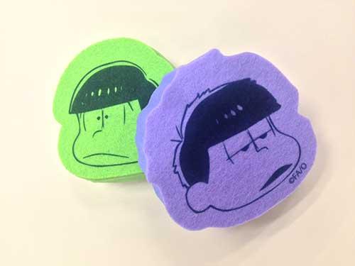 TVアニメ「おそ松さん」展おみやセット 6つ子おそうじスポンジセット チョロカラ